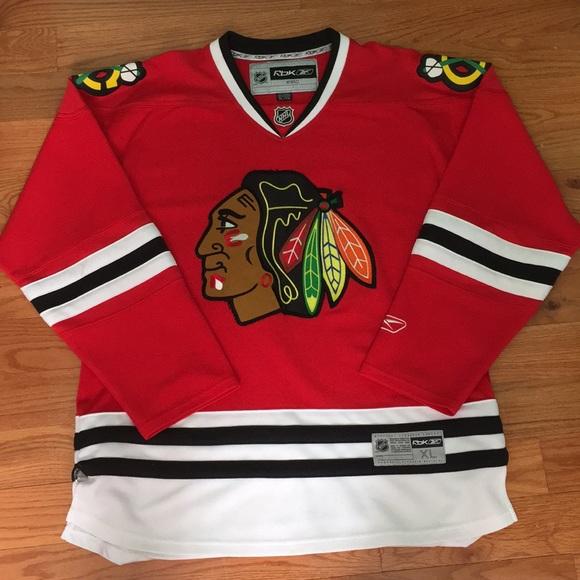 brand new 42b02 57089 Men's XL Chicago Blackhawks Home Hockey Jersey